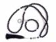 Чётки 99 бусин и браслет из чёрного агата (комплект )   оптом 2