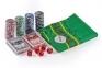 Набор для игры в покер 100 фишек с сукном  оптом 5