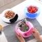 Двойная тарелка-миска для семечек, фисташек, орехов с отсеком для шелухи и косточек и подставкой для телефона  оптом 4