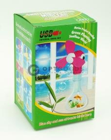 Универсальный увлажняющий usb мини вентилятор с цветными шариками  оптом
