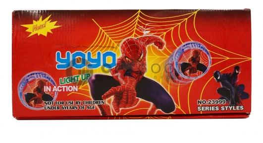 Йо-йо Spider-man light up  оптом