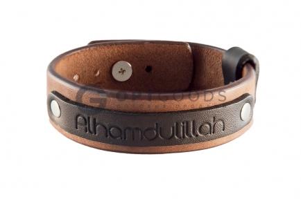 Кожаный браслет Альхамдулиллях  оптом