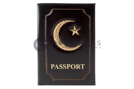 Обложка для паспорта мусульманская Полумесяц  оптом