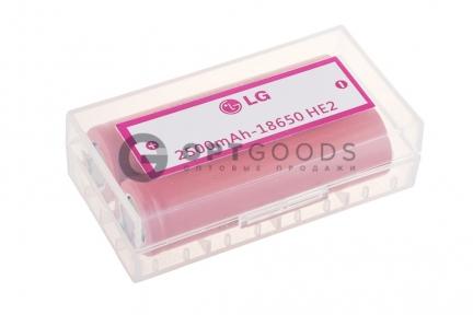 Аккумуляторы LG HE2 2500 mAh (2шт.)  оптом