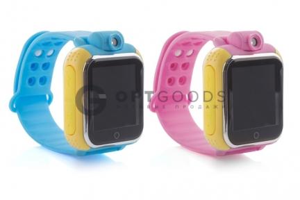 Умные детские часы Q100 с GPS трекером и камерой оптом