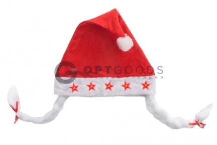 Новогодняя шапка со звездами  оптом