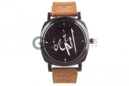 Часы Создатель с арабскими цифрами на классическом чёрном ремешке   оптом