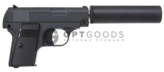 Модель пистолета G.9A Colt 25 mini с глушителем(Galaxy)  оптом