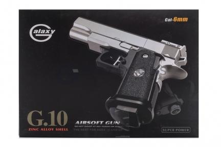 Модель пистолета G.10A Colt 1911 PD mini Black с глушителем (Galaxy)   оптом