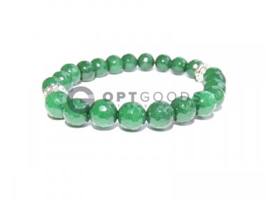 Браслет из зелёного агата  оптом