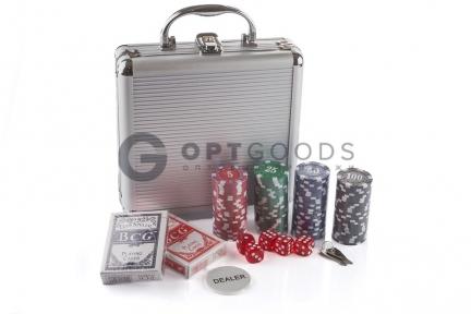 Набор для игры в покер 100 фишек   оптом