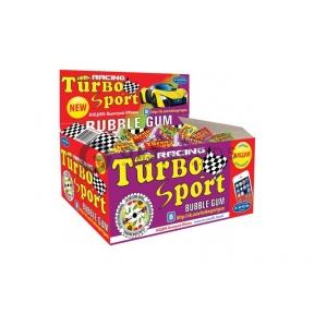 Жвачка Turbo (блок 100 шт.) с наклейками   оптом