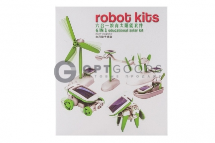 Конструктор с солнечной батарейкой Robot Kits 6 в 1  оптом