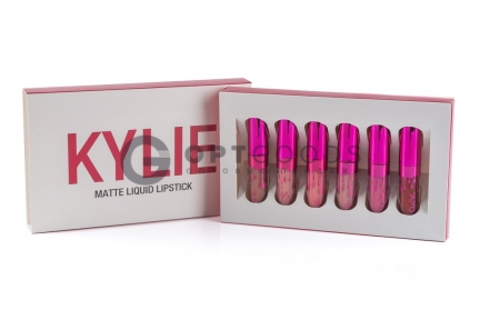Набор из 6 матовых помад Kylie Red  оптом