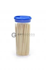 Зубочистки 70-80 шт,  упаковка 24 шт. цвет МИКС  оптом