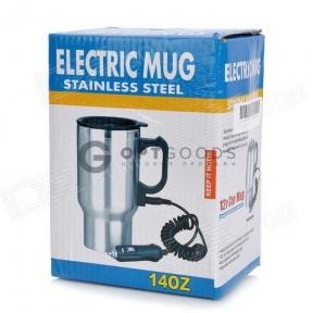Термокружка с подогревом ELECTRIC MUG STAINLESS STEEL 140Z оптом