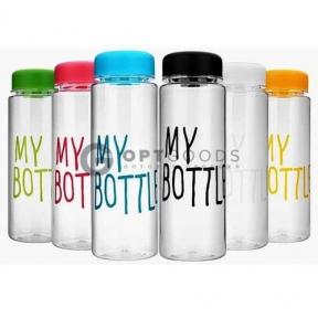 Цветные пластиковые бутылки My Bottle + Чехол!    оптом