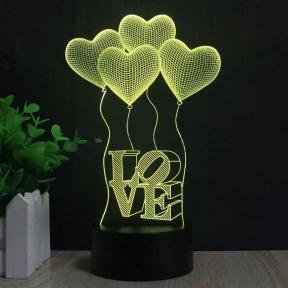 3 D Creative Desk Lamp (Настольная лампа голограмма 3Д)   оптом